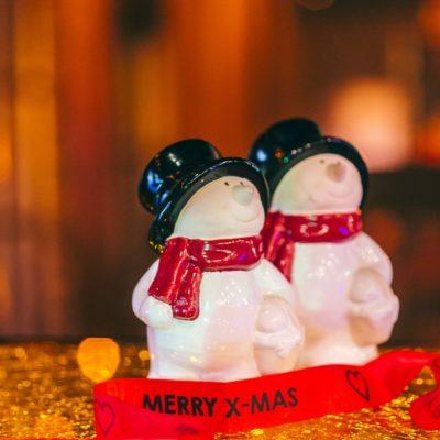 Foto Boode sneeuwman kerst