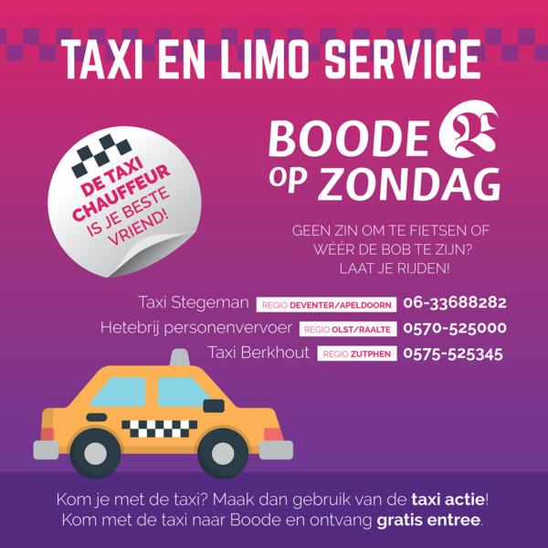 vervoer naar Boode in Bathmen per taxi