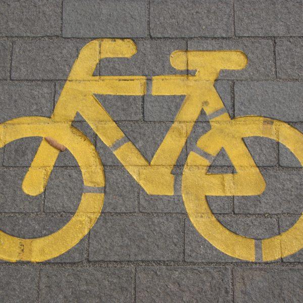 Boode vervoer -auto-en-fiets en bus