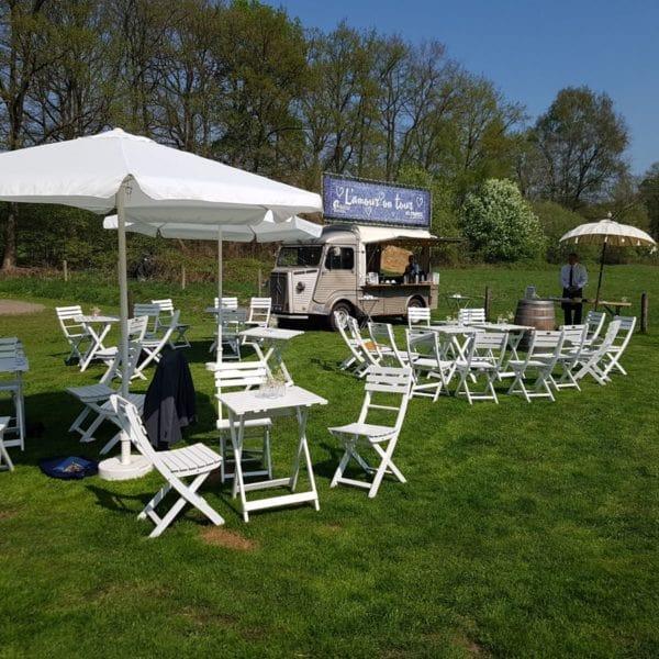 Catering huwelijk grasveld