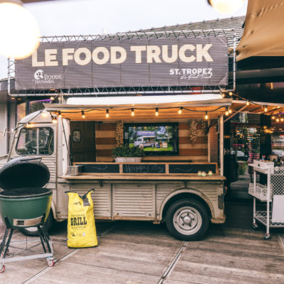 De food truck op het terras