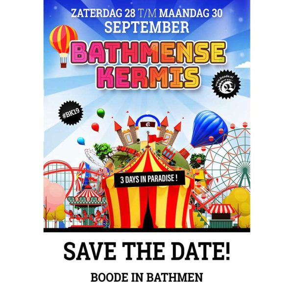 Bathmense kermis 2019, save the date!