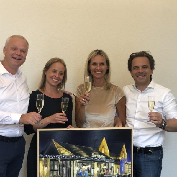 vlnr: Michiel Bouwens, Daniëlle Nesselaar, Anke Jansen en Paul Klösters
